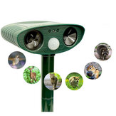Repelente Solar Ultrassônico Animal Deterrent Pest Cat Cachorro Fox Deterrent Solar Scarer Repelente