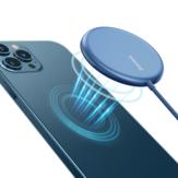 Baseus 15W Magnetic Wireless شاحن Fast Wireless شحن Pad للهواتف التي تدعم Qi ذكي لهواتف iPhone 12 12 Mini 12 Pro Max لـ Samsung Galaxy S21 Huawei Mate 40 Pro Xiaomi Mi 10