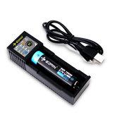 Eizfan C11 Slots LED Pantalla Pantalla Batería Cargador USB Cargador universal para 18650 26650 20700 21700 Batería recargable