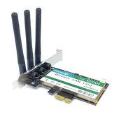 WTXUP 2.4G 5G Dual Banda Scheda di rete wireless interna Scheda PCI-E WiFi 3 * Antenna Adattatore WiFi per PC Destop