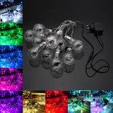 4M 10LED Ampul Şekilli Kapalı Outdoor Noel Partisi AC100V-240V için Periler String Işık