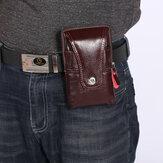 Erkekler Retro Suni Deri Bel Çanta Telefon Çanta