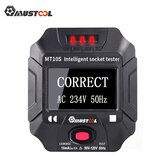 Mustool MT10S / MT10E Tomada Tomada Tester Detecção Inteligente Display Voltage Frequency RCD Tester