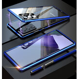 Bakeey for Samsung Galaxy Note 20 / Note 20 5G Case Magnetic Flip Double-sided with Lens Protector 9H Tempered Glass Metal Full Body Protective Case