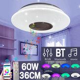 110-220V 60W LED Lâmpada de teto de música RGB Bluetooth Controle Remoto Lâmpada inteligente