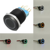 12V 22mm 6 Pin Self-locking Latching Switch Led Light Metal Push Button Switch