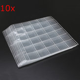 10Pcs Plastic Coin Holders Collection Storage Money Album Cases 30 Sections