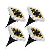 4PCS Солнечная Powered LED Квадратный свет для газона, утопленный в землю, встраиваемый Лампа для Сад На открытом воздухе Палубный путь