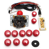 Dual Player Red Game Kit console di gioco arcade fai da te Kit parti di ricambio Encoder USB per PC Doppio joystick e Pulsanti