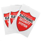 3Pcs DECALCOMAN SISTEMA DI SICUREZZA Decalcomania Decor Sticker Sticker Warning CCTV fotografica Home Alarm