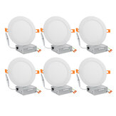 6/12 Pcs 6Inch LED Recessed Light Panel 12W with Junction Box Dimmable Can Down Lighting