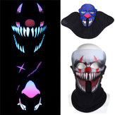BIKIGHT Face Masker Light Up Knipperend Lichtgevend voor Outdoor Cycling Halloween Party Costume Decoration