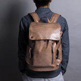 Men Solid Casual USB-Ladeklappe Multifunktions-Rucksack