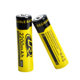 2PCS LR 18650 3.7V 2200mAh Rechargeable Lithium Battery for Flashlight Tools