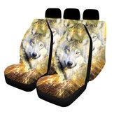 Housse de siège de voiture universelle 1/2/5 siège accessoires intérieurs de style housse de protection de Style loup de siège d'automobile