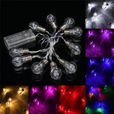 1.5M Kleurrijke 10 LED Batterij String Lights Lampen Lampen Tuin Wedding Party Fairy Christmas Decor