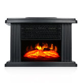 Bakeey 1000W Electric Fireplace Heater Portable Desktop Flame Heater Stove Air Warmer Fan For Living Room Bedroom