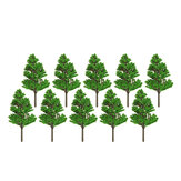 10Pcs Mini Artificial Plant Trees Poplar 3-14cm Home Office Party Decorations
