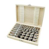 Drillpro 8 pièces 230mm ensemble de forets hexagonaux en acier au carbone coffret en bois usiné tourelle à bois perceuse poinçonnage serrure de porte kit de forage d'alésage