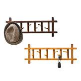 6 ganchos de montagem na parede porta de entrada de trilho de rack de 360 graus de rotação Chapéu roupas Toalha rack