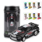 1PC 1/58 Electric Mini Coke Rc Car W/ LED Light Radio Remote Control Mini Racing Toy Random Color