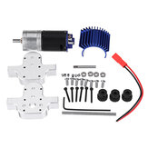 1 PC Metal Gear Gear Box 370 Motor do WPL B16 B24 B36 C24 JJRC Q60 Q61 4WD 6WD RC Car