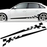 2x Car Vehicle Body Stripe Side Stickers Racing Race Skirt Vinyl Decal DIY Decor