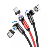 FLOVEME 3 In 1 L Shape 1M Magnetic Type-C Micro Fast Charging Data Cable for iPhone 12 Pro Max for iPad for Samsung Galaxy Note S20 ultra Huawei Mate40 OnePlus 8 Pro OPPO VIVO