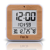 FanJu FJ3533 LCD Alarme Digital Relógio Interior Temperatura Dupla Alarme Snooze Backlight Função Data Display