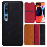 Nillkin for Xiaomi Mi10 Mi 10 / Mi10 Mi 10 Pro Case Bumper Flip Smart Sleep Shockproof with Card Slot PU Leather Full Cover Protective Case Non-original