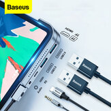 Baseus versão atualizada USB-C Hub adaptador docking station com 2 * USB 3.0 / 60W Type-C PD / 4K HD Display / 3.5mm Audio Jack / TF Memory Card Reader