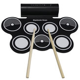 KONIX Portable Roll Up USB MIDI Electronic Drum 7 Pads Built in Speaker for kids Beginners MD759