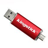 Kingstick 32G 64G USB 2.0 Micro USB Flash Unidade de disco portátil com suporte para pen drive OTG para telefone celular