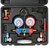0-800 MPa de voiture collecteur réfrigérant jauge set outils de matériel de climatisation de climatisation de voiture avec tube