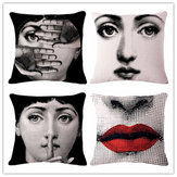 Dekoracyjna polerowana poduszka Box Cute Cartoon Fornasetti Face Cushion Pad Cover Sofa Home Decoration