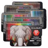 Kalour 180 Adet Renkli Kalem Seti Kavak Beyaz Ahşap Kalem Kalay Kutu Sanat Seti Profesyonel Sanatçı Boyama Kalem Seti