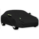 Zwarte volledige autohoes Waterproof Sun Rain Heat Dust UV Resistente bescherming 190T