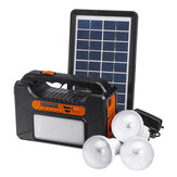 25w Emergency Portable Solar Panel Power Generator 3 Lamp Lighting System USB Card Radio Audio Solar Powered System Generator