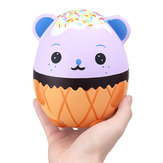 Nouveau Squishy Purple Panda Oeuf 15CM Kawaii Animal Lent Rising Rebound Jumbo Mignon Jouets Cadeau Decor Collection
