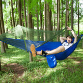 Anti-mosquito Parachute Nylon Hammock Outdoor Travel Camping Turn Over Tents