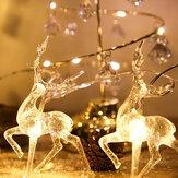 2020 عيد الميلاد سلسلة الأيائل ضوء LED زينة عيد الميلاد للمنزل معلقة جارلاند زينة شجرة الكريسماس حلية ل نافيداد عيد الميلاد هدية السنة الجديدة