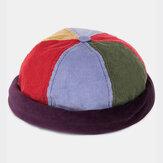 Banggood Diseño Hombres Multicolor Patchwork Color Patrón Casual Beanie Landlord Cap Cráneo Cap