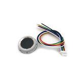 R502-A Módulo de Leitor de Impressão Digital Capacitivo Sensor Scanner Pequeno Anel Circular Fino LED Controle DC3.3V MX1.0-6pin