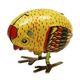 Wind Up Chick Tin Toy Clockwork Spring Dziobanie Laska Styl Vintage
