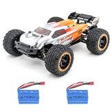 HBX 2.4G 2CH 1/16 16890 Brushless RC Car Alta Velocidade 45KM / H Pé Grande Modelos de Veículos Caminhão Dois Bateria
