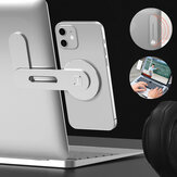 Bakeey Magnetic Foldable Dual Monitor Display Magnetic Aluminum Alloy Macbook Stretching Side Holder Mount for iPhone 12 POCO M3 Mobile Phone Tablet