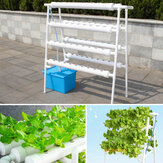 110-220V Hydroponic Grow Kit 8 Pipes 4 Layers Hydroponic 72 Holes Garden Vegetable Planting System Kit