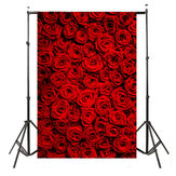 5x7ft Vinyl Valentine's Day Red Rose Photography Background Photo Studio Prop Backdrop