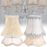 Lâmpada de lã de lã pequena vintage liso cobertas de tecido para luz de lustre de teto