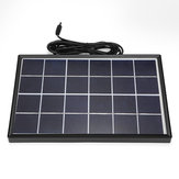 6W 6V 266*175*17mm Polysilicon Solar Panel with Cable & Border